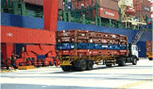Empty flat rack containers will be sent into the port area according to the Port schedule.